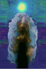 Archangel Ariel working with Ishtar energies, I call her 'Kali Bright Rhiannon ? Isis ? Astarte ? Luna Earth Mother artwork Lunar Goddess in blue moon december 2009 january 2010 photography by dawn energy888 enhancements by Isabella Wesoly