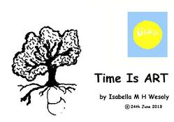 Time Is Art series, by Isabella Wesoly E-book for sale 'Ways of Seeing'