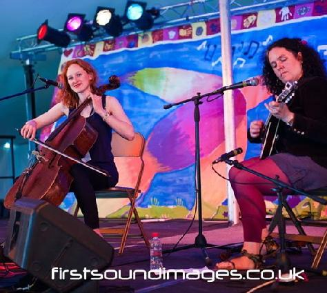 LauraVictoria & Emma-Jane aka Laura Hewison and Emma-Jane Miller, welcomed by OPEN Ealing Arts Centre, for the 'first Friday' event June 2012