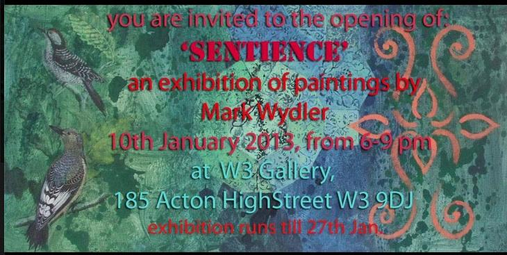 Mark Wydler exhibition at West 3 Gallery, Acton. Links from Is-Harmony